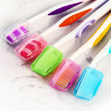 High Quality 5 PCS Portable Toothbrushes Head Cover Holder Travel Hiking Camping Case Plastic storage box Container(China)