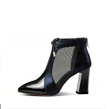 SEXY ANKLES WOMEN BOOTS Fashion Womens POINTED TOE Ankle Boots Mesh Shoes Sexy High Heels Lady Shoe Female LADIES BOOT jookrrix 2018 summer new girl western style fashion ankle boots rivets shoe women sexy lady shoe black good quality fish mouth