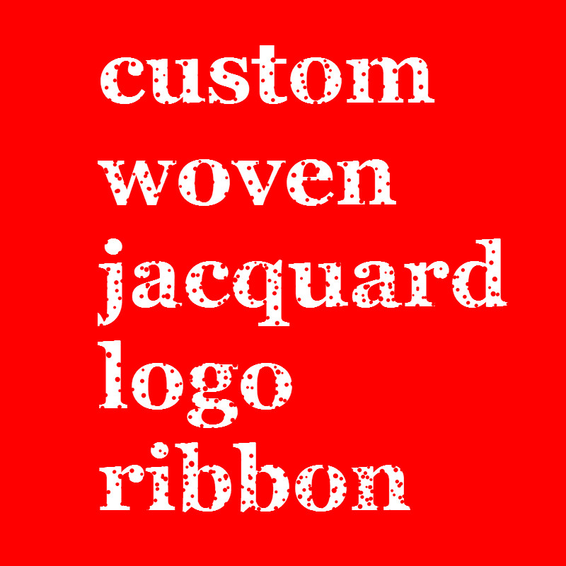 100 Yards /lot Custom Woven Jacquard Logo Ribbon Gift Packaging 100% Polyester Decoration Ribbon Sample Is Ok You Pay Again.