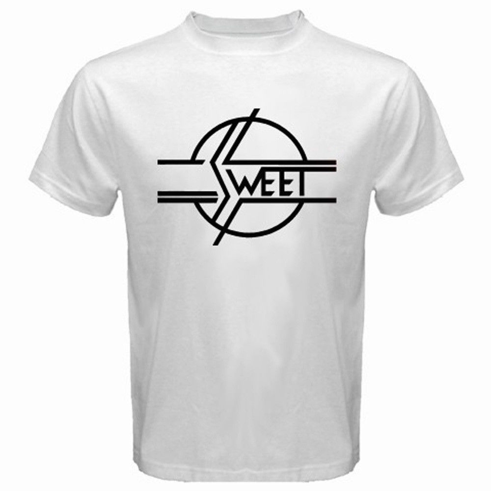 2017 hot sale new the sweet band glam 70 39 s classic rock for Band t shirt designs for sale