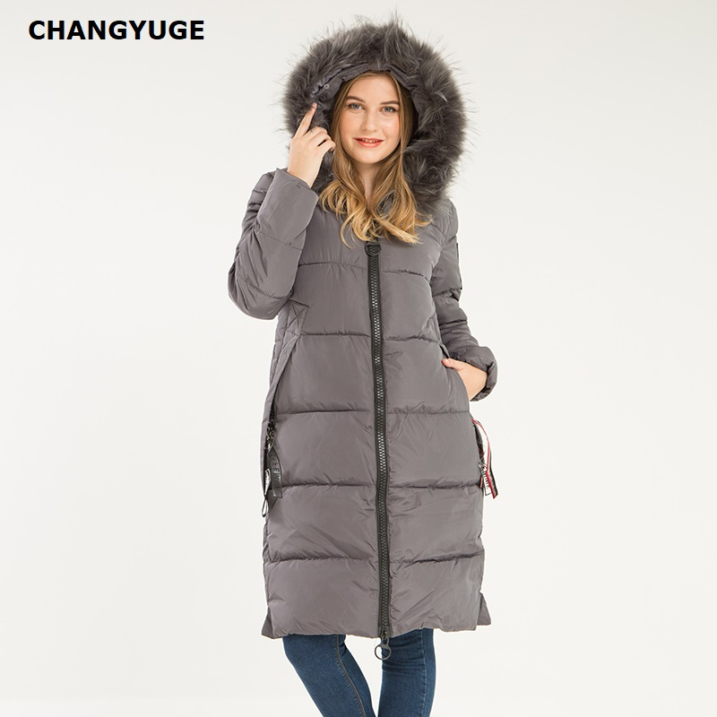 Winter Women'S   Down     Coat   2018 New Clothes Cotton-Padded Thickening   Down   Winter   Coat   Long Jacket   Down   Parka Winter Women