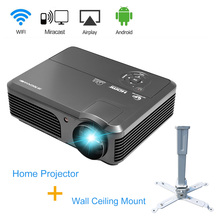 4200LM CAIWEI Android WIFI Beamer Home Video Projector Theater 1080p HD LED Projector TV VGA PC DVD Smartphone HDMI with Bracket