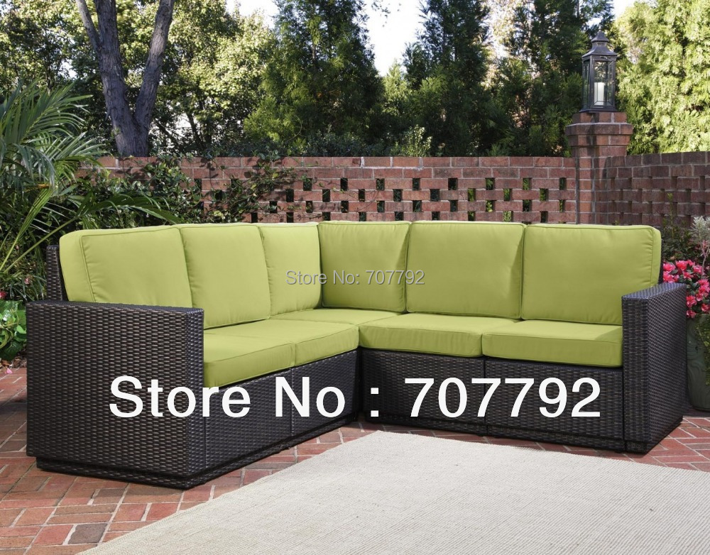 2017 hot sale 5 seat outdoor all weather wicker l shaped sectional patio sofa