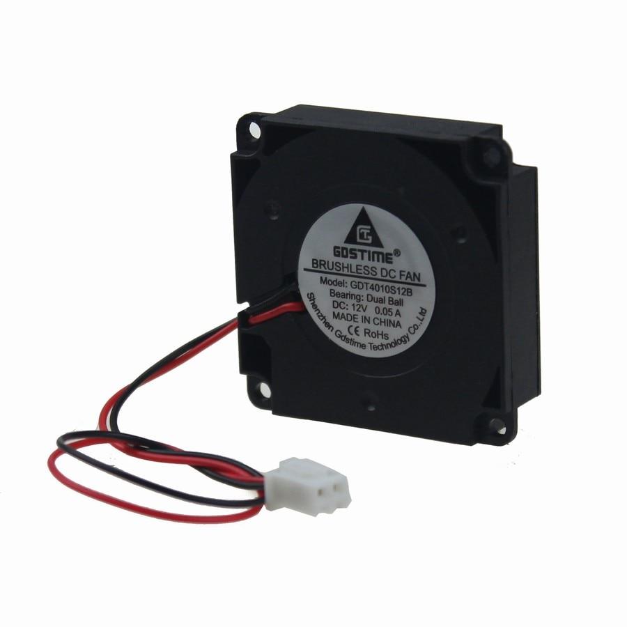 цены на Gdstime 2pcs Dual Ball DC 12V 40x40x10mm Mini 3D Printer Blower Cooling Fan 40mm x 10mm в интернет-магазинах