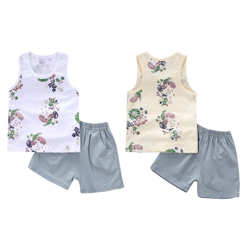 dd2087ee6e26 Hot Sale Children Boys Girls Summer Clothing Sets Baby Vest Shorts 2Pcs  Kids Embroidery Star Clothes Toddler Vest+Pants Cotton-in Clothing Sets  from Mother ...