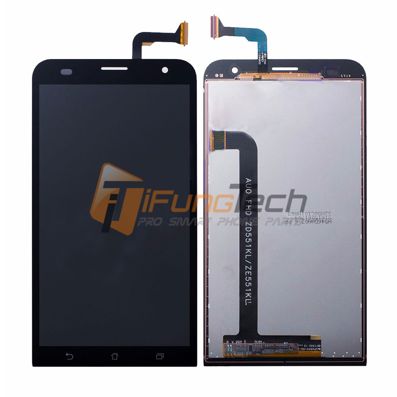 Black Full LCD DIsplay + Touch Screen Digitizer Assembly For Asus ZenFone 2 Laser ZE551KL Z00TD Free shipping , 100% Tested 5pcs