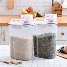 Kitchen Storage Organizer Grain Container Rice Box Cereal Bean Sealed