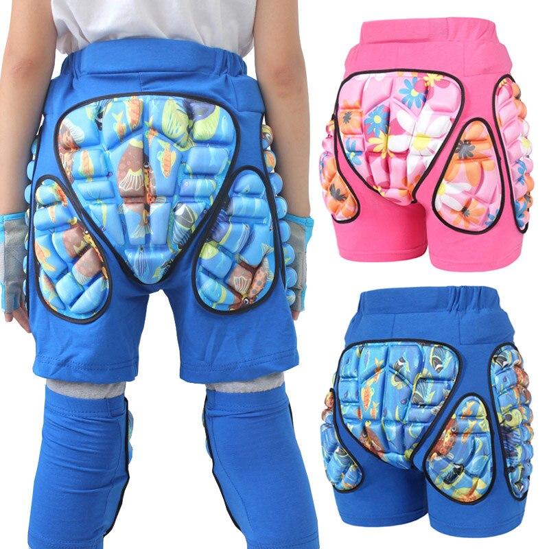 Горячие детские 3D хип защитные Короткие штаны защита от стыков штаны анти-осень для катания на лыжах HV99