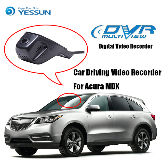 Yessun Car Front Dash Camera Cam Dvr Driving Video Recorder For Acura Mdx Iphone Android Control Function