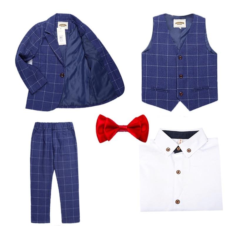 Boys Blazer School Suits Kids Blazer Sets Boys Formal Costume for Weddings Children Birthday Party Clothes Z7 in Blazers from Mother Kids