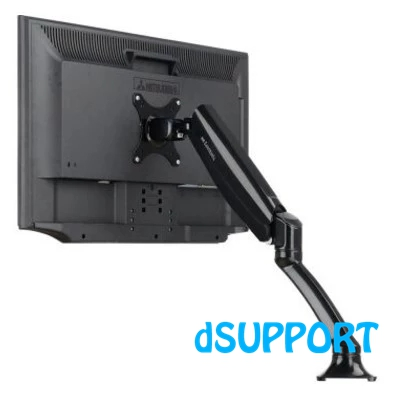 DLB502 Gas Spring Full Motion Desktop 10-27 LCD LED Monitor Holder Arm TV Mount Bracket Loading 2-6.5kgs VESA 75/100mm
