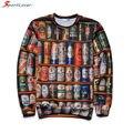 Sportlover 2016 New Arrive 3D Sweatshirt Men 3D Hoodies Print Beer Bottle Fashiop Hip Hop Harajuku O-neck Tops Brand Clothing