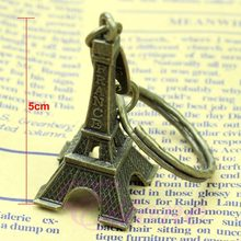 Bronze Tone Paris Eiffel Tower Figurine Statue Vintage Alloy Model Decor 5CM(China)
