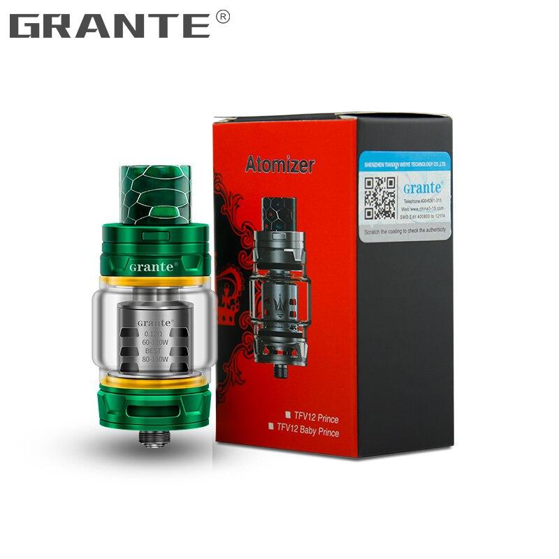 Grante TFV12 Prince Atomizer With 810 Drip Tip 8ml Top Filling 510 Atomizer TFV12 Prince Dual Coil Vape Vaporizer Tank