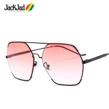 c7b358acac21d JackJad Moda Hexágono De Metal Aviação Estilo Gradiente óculos de Sol Das  Mulheres Dos Homens de Design Da Marca Do Vintage Ócul.