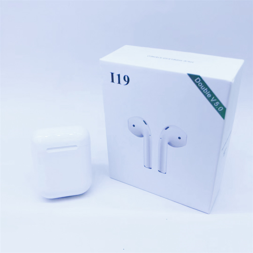 <font><b>i18</b></font> i19 <font><b>TWS</b></font> Wireless <font><b>Bluetooth</b></font> <font><b>5.0</b></font> Earphone <font><b>touch</b></font> <font><b>control</b></font> Headset Automatic Connection earbuds For IPhone Xiaomi with good chip image