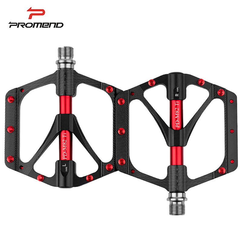 Bicycle Pedal Titanium Mountain Bike Pedal Ti Spindle Axle MTB Road Cycling Self Lubricating 3 Bearing Ultralight Pedals PROMEND original delta afb1212hhe r00 dc12v 0 70a 3wires 120 120 38mm 12cm alarm signal cooling fan