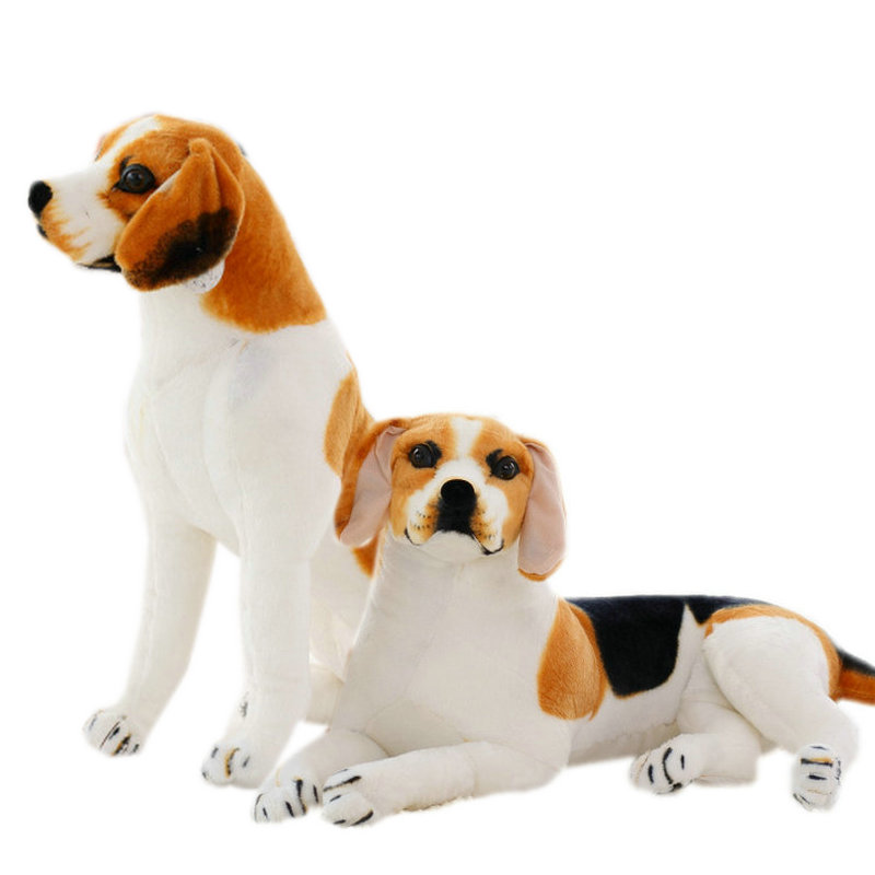 Giant Big Size Beagle Dog Toy Realistic Stuffed Animals Dog Plush Toys Gift For Children Home Decor Pet Store Promotion Mascot
