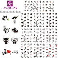 11Sheet/lot BLE2193-2203 Black Cat design Water decal Nail Sticker For nail water transfer nail decals for Sticker Decals