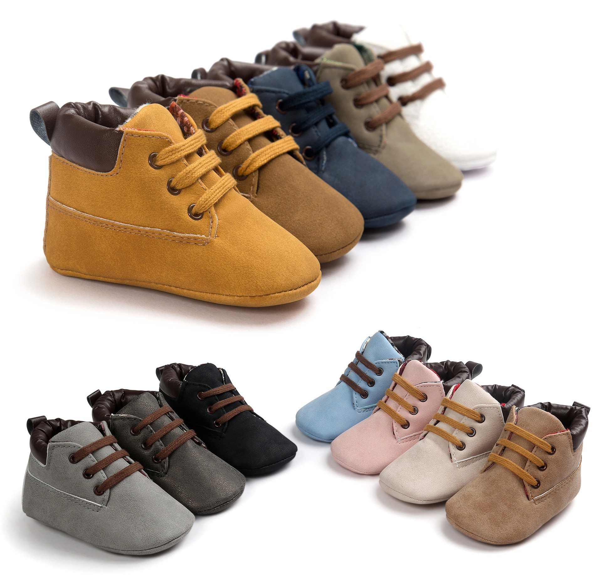 Free Shipping Spring PU Leather 12 Color Baby Boy Baby