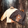 2T-7T 2016 Fall sweater/Neutral sweater/Cartoon pattern/With velvet