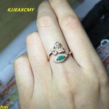 e87a2e91b26b Kjjeaxcmy joyería fina 925 Plata pura incrustaciones anillo Esmeralda  natural al por mayor