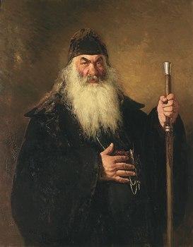 HOME OFFICE art-Russia Moscow Repin retrato de un Archdeacon impresión pintura sobre lienzo-costo de envío gratis