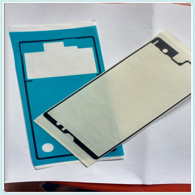 1 Set / 2PCS New LCD Front Frame Housing + Rear Back Battery Door Cover Adhesive Glue Sticker Tap For Sony Xperia Z L36H C6603