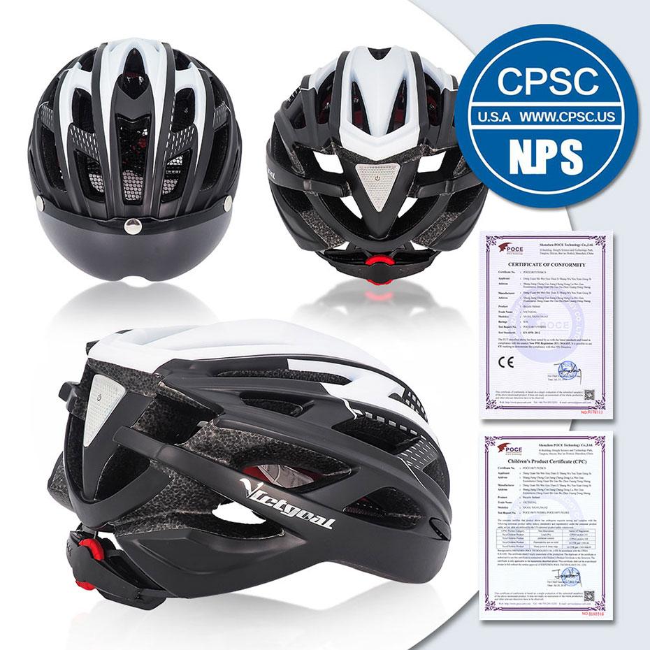 Bike Helmet, LED Backlight, Bicycle, Helmet Men Women Goggles Cycling Helmet Ultralight MTB Road 2