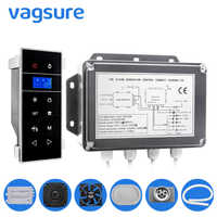 AC 220V Power Supply 3KW Wet Steam Sauna Bath Spa Generator For Bathroom Shower & Sauna Room Bluetooth LCD Screen Display
