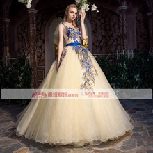 100 real luxury flower vine embroidery vintage ball gown royal Medieval Renaissance Victorian dress Belle ball