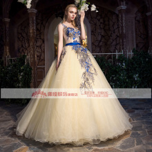 100%real luxury flower vine embroidery vintage ball gown royal Medieval Renaissance Victorian dress Belle ball