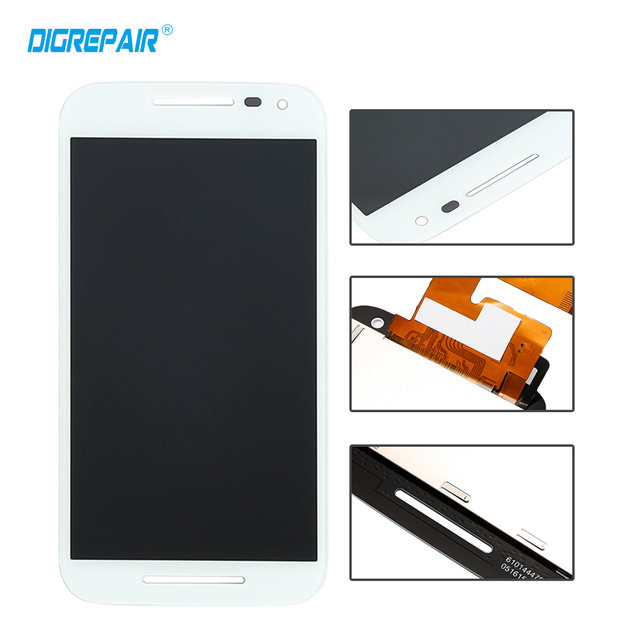 5'' inch White for Motorola Moto G 3rd Gen 2015 G3 LCD Display Touch Screen Digitizer Assambly Replacement,Free shipping