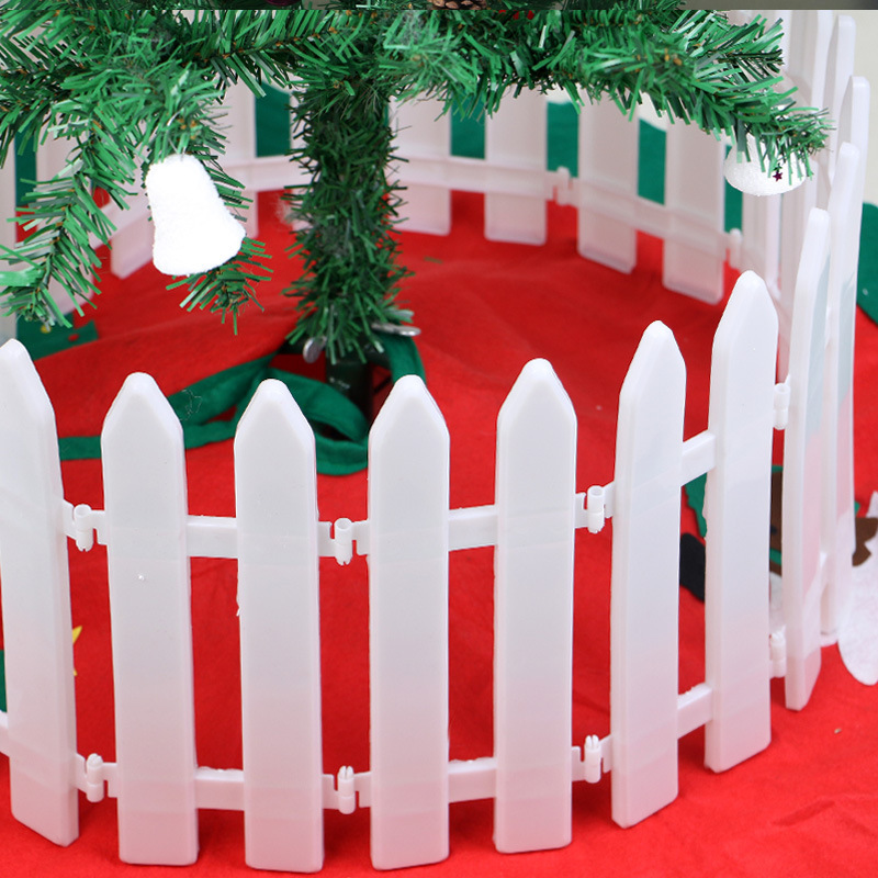 15pcs Christmas Decor Decoration Festival Shop Scene Arrangement Fence Christmas Ornament Christmas Tree Enclosure Bamboo Fence