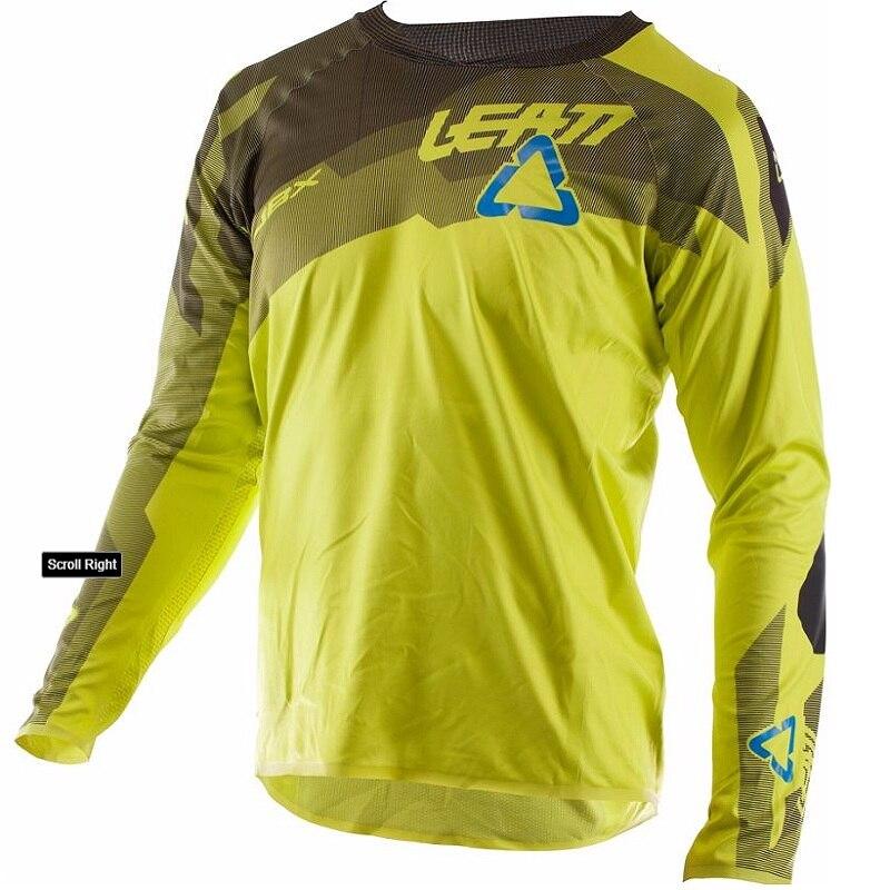 New 2018 Blue Cycing Jersey long sleeve Men Motorcycle Motocross Jersey Racing DH Downhill MX T shirt 3431