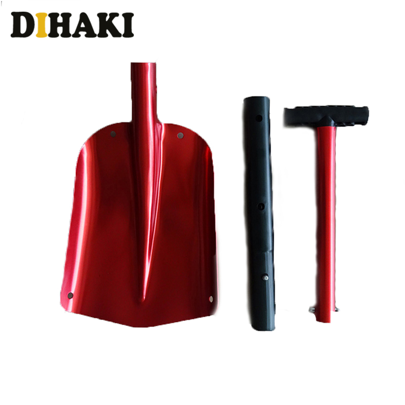Retractable Outdoor Snow Shovel Aluminum Alloy Ice Shovel Winter Snow Remover Tool Camping Garden Folding Shovel Survival Tools