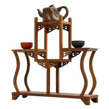 Wenge wood Ming and Qing furniture antique vase Treasure House teapot rack shelf Shelf swing frame factory outlets