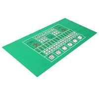 New Arrival 180X90 cm Lớn Màu Xanh Lá Cây Không Dệt Vải Board Game Bảng Vải Poker Dice Die Cuộn Mat cho Các Bên Giải Trí
