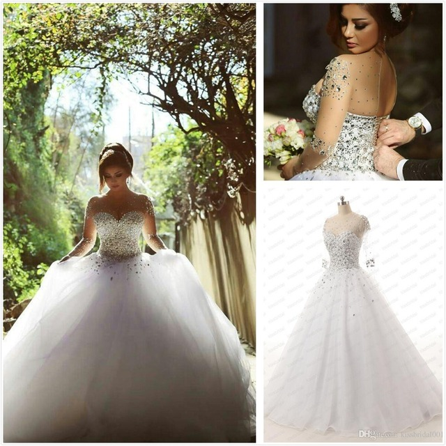 Said Mhamad 2017 New Long Sleeve Wedding Dress vestidos de noiva Ball Gown Bridal Gown Luxurious Wedding Dress for Brides