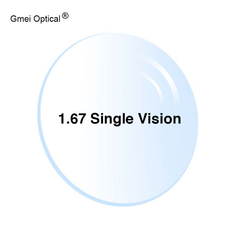 Radiation Protection 1.67 High-Index Ultra-Thin HMC EMI Aspheric Anti-UV Myopia Hyperopia Clear Optical Prescription Lenses,2Pcs
