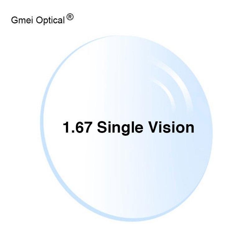 Protection contre les rayonnements 1.67 haute indice Ultra-mince HMC EMI asphérique Anti-UV myopie hyperopie lentilles de Prescription optiques claires, 2 pièces