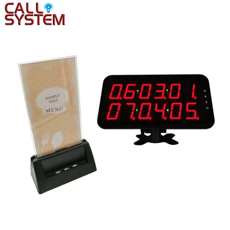 Récepteur d'affichage Ycall et bouton d'appel poussoir de service avec support pour menu acrylique