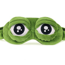1Pcs/set Cute Pepe the frog Sad frog 3D Eye Mask Cover plush toy Sleeping Funny Rest Sleep Anime Cosplay Accessories Gift(China)