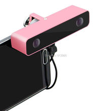 ELP Pink MIni 3D VR Video Camera HD Mobile Phone External Usb Camera Android with Wide Angle100 Degree Dual lens for Smartphone