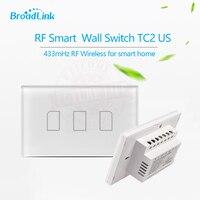 Broadlink TC2 US AU 2016 New Arrival Smart Home RF Touch Light Switches 3Gang 110V 220V