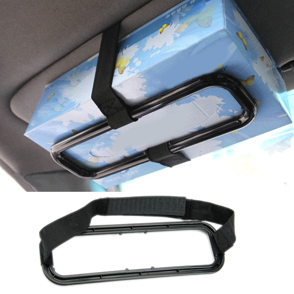 Fashion Organizer Auto Practical Accessories Sun Visor Seat Back Napkin Bracket Tissue Box Holder Paper Car Clip Universal in Tissue Boxes from Automobiles Motorcycles
