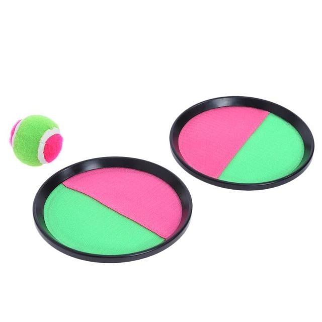 1 Set Children Sticky Ball Toys Indoor&Outdoor Fun Sports Parent-child Interactive Throw&Catch Sticky Target Racket Ball Games 2
