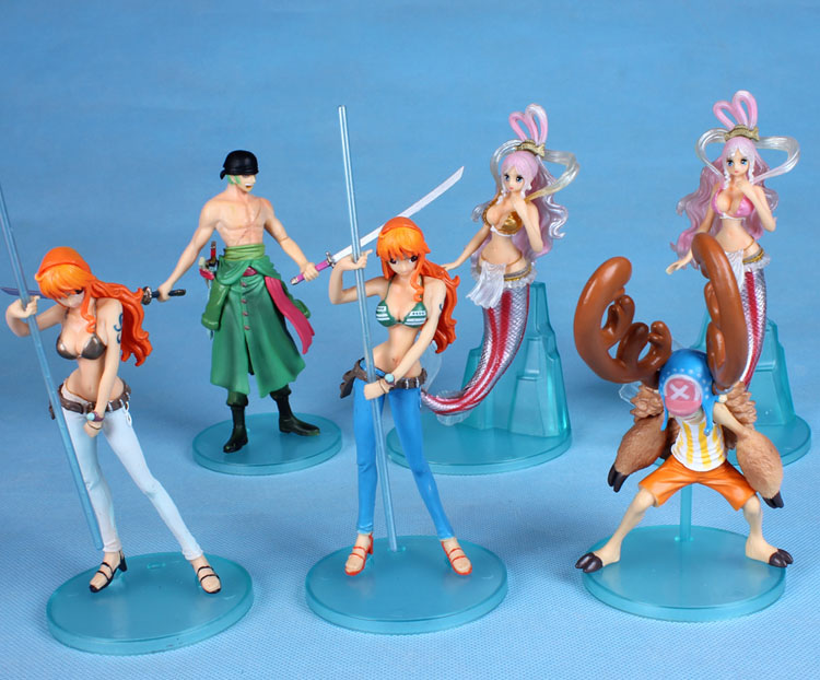 One Piece Cosplay Nami Chopper Zoro Shirahoshi Boxed Small PVC GK Garage Kit Action Figures Model Toys 6Pcs/Set vocaloid cosplay hatsune miku q version boxed pvc small gk garage kit action figures model toys 4pcs set