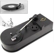 Generic Mini Retro USB Turntable Record Player with Speaker Retro Phonograph Convert Vinyl LP to MP3/WAV Plug and Play