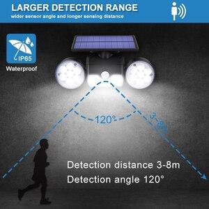 Image 5 - 30led lampa słoneczna podwójna głowica lampa słoneczna PIR Motion Sensor Spotlight wodoodporna zewnętrzna z regulowanym kątem światła do ogrodu ściennego